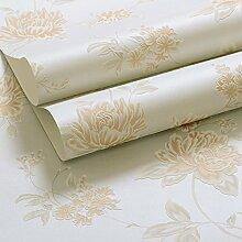 Vliestapete/Koreanischen Garten Blumentapete/Warme Wohnzimmer Schlafzimmer Tapeten/3d solide Hintergrundbild-C