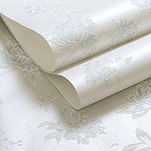 Vliestapete/Koreanischen Garten Blumentapete/Warme Wohnzimmer Schlafzimmer Tapeten/3d solide Hintergrundbild-B