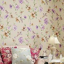 Vliestapete/Normalpapier-Blumen-Tapete/Romantische Garten Blume Tapete/Schlafzimmer Wohnzimmer Tapete/TV Kulisse Tapete-B
