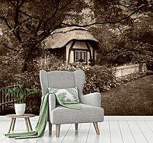 Vliestapete Poster Fototapete Cottage englischer