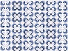 Vliestapete Retrokreise Blau Muster VT99