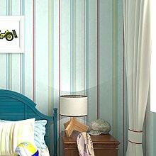 Vliestapete Schlafzimmer Kinderzimmer Zimmer Tapete Einfache farbige vertikale Streifen Tapete-A