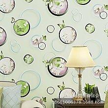 Vliestapete Schmetterling Luftblasen Tapete Wohnzimmer Schlafzimmer Sofa Einstellung Tapeten , 123047