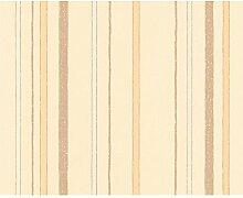 Vliestapete schöner Wohnen Design Streifen beige