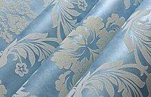 Vliestapete Tapete 3D-geschnitzt Wohnzimmer Schlafzimmer TV Hintergrund,Blue