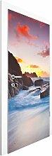 Vliestapete Tür - Am Meer in Cornwall - Türtapete , Größe HxB: 215cm x 96cm