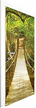 Vliestapete Tür - Dschungelbrücke - Türtapete , Größe HxB: 215cm x 96cm