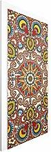 Vliestapete Tür - Farbiges Mandala - Türtapete , Größe HxB: 215cm x 96cm