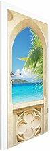 Vliestapete Tür - Ocean View - Türtapete , Größe HxB: 215cm x 96cm