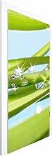 Vliestapete Tür Premium - Fresh Green - Türtapete , Größe HxB: 215cm x 96cm