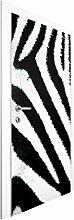 Vliestapete Tür Premium - Zebra Crossing - Türtapete , Größe HxB: 215cm x 96cm