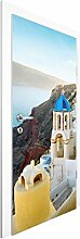 Vliestapete Tür - Santorini - Türtapete , Größe HxB: 215cm x 96cm