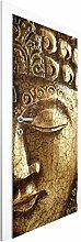 Vliestapete Tür - Vintage Buddha - Türtapete , Größe HxB: 215cm x 96cm