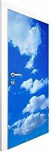 Vliestapete Tür - Wolkenhimmel - Türtapete , Größe HxB: 215cm x 96cm