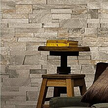 Vliestapete - Vintage - Faux Brick - Grau 3D Home Dekoration , 3