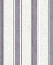 Vliestapete weiß lila Streifen Rasch Home Vision 4 Spring Time Tapete 432435