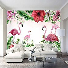 Vliestapeten, Flamingo-großes Wandgemälde,
