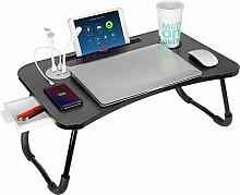 VLikeze Laptop-Betttisch mit USB, faltbarer