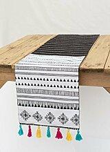VLiving Aztec Runner, geometrischen, schwarz und
