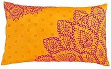VLiving Häkel Muster Bestickt Kissen, orange und