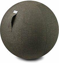 VLUV STOV Stoff-Sitzball, Fitnessball, Gymnastikball, Medizinball, Pezziball für das Büro oder zu Hause 75cm, ergonomisch - in Greige