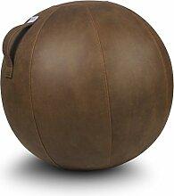 VLUV VEEL Lederimitat Sitzball 75cm Cognac