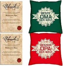 vmxdesign Geschenk Oma Opa Weihnachten :-: Deko