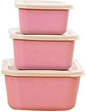 VNEIRW 3pcs Weizen Stroh Bento Boxen Microwaveable