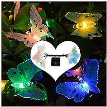 VNEIRW 5M 20LEDs Solar Lichterkette Schmetterling