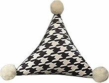 VNEIRW Keilkissen mit Dreieckskugel für Bett und