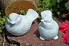 Vögel,2er Set,Gartendeko,hochaktuelles grau,Landhausstil
