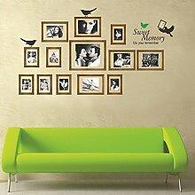 Vögel Bilderrahmen Wand Aufkleber PVC Home Aufkleber House Vinyl Papier Dekoration Tapete Wohnzimmer Schlafzimmer Küche Kunst Bild DIY Wandmalereien Mädchen Jungen Baby Kinderzimmer Spielzimmer Decor