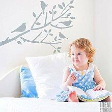 Vögel im Baum FILIALEN Kinderzimmer Schablone
