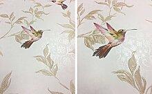 Vögel Tapete Vogel Glitzer Effekt Sparkle Bäume