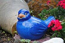 Vogel aus Keramik in tollem Blau,30cm