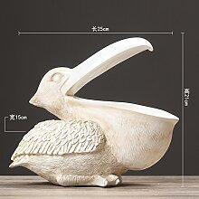 Vogel basteln Nordische antike Gehäuse] Scm mund pelikan vogel Tier basteln Deko-ideen Modell esszimmer nach hause Dekoration-B