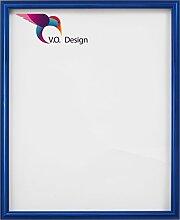 Vogel Design Bilderrahmen München - Blau 80x80cm