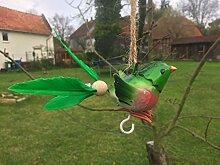 Vogel mit Federn zum Aufhängen Vogel Metall Deko Baumdeko lackiert (7)