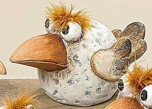 Vogel Pipo Terrakotta 4 Ausführungen wählbar L 21cm od. 15cm (Nr.3 L ca21cm)