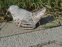 Vogel Spatz aus Naturstein versch Farben Gartendeko Teichdeko