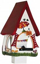 Vogelfutterhaus Futtervilla klein Gartenlaube weiß