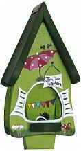 Vogelfutterhaus Futtervilla mini Gartenlaube kiwigrün
