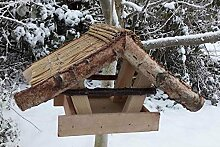 Vogelfutterhaus mit Reetdach,Reiherholz