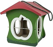 Vogelhaus Apfel, Futterhaus für Vögel, Vogelfutterhaus