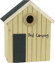 Vogelhaus Bird Camping natur H. 24cm aus Holz IB