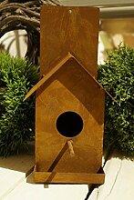 Vogelhaus für die Wand Edelrost Metall Nistkasten
