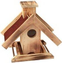 Vogelhaus Futterstelle mit rotem Dach 29 x 15,5 x