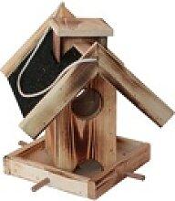 Vogelhaus Futterstelle mit schwarzem Dach 26,5 x