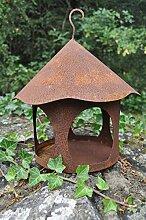 Vogelhaus Futterstelle rund zum Hängen Metall