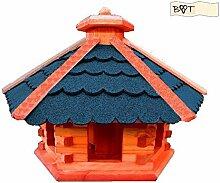 Vogelhaus, Gartendeko aus Holz Vogelhaus, große Vogelvilla Vögel ohne Ständer Vogelhaus, B40blOS